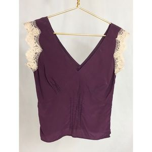 Calypso St Barth Silk Top With lace detail